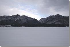 観山荘裏手の雪景色