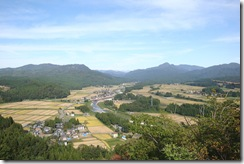 朴坂城址からの風景