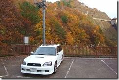 大石ダムの紅葉をバックに♪我が愛車です。