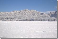 高橋屋観山荘裏手の雪景色