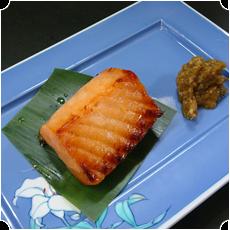 自家製鮭の味噌漬け