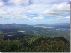 立烏帽子山頂からの景色その1