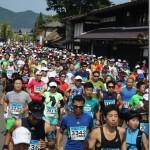 関川マラソン(国重分渡邉邸前)